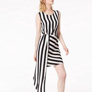 NWT Bar III Twist-Front Metallic Dress